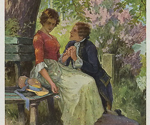blossom, card, and clothes image