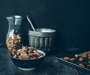 fruit, grey, and nut image
