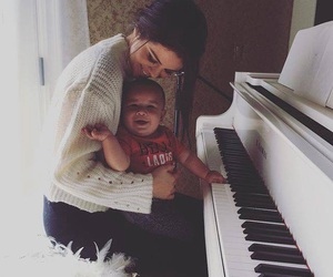 selena gomez, baby, and piano image