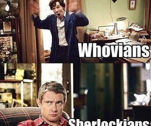 doctor who, sherlock, and funny image