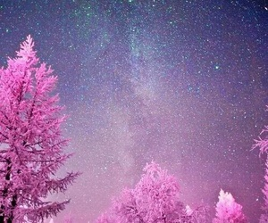 snow, winter, and stars image