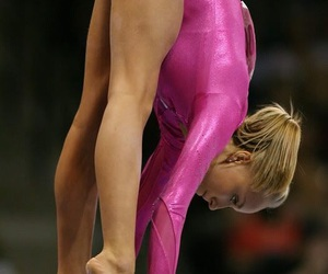 gymnastics, pink, and nastia image