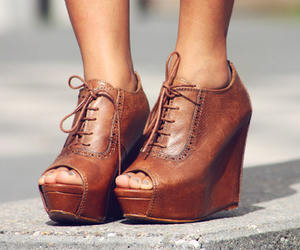 laces, leather, and wedges image