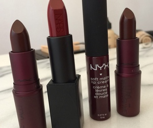 lipstick, makeup, and NYX image