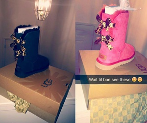 boots, uggs, and girl image