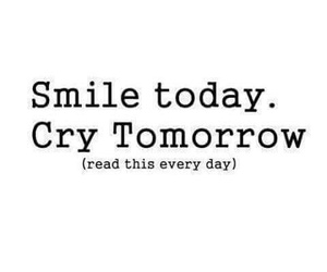 cry, quotes, and smile image