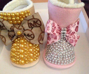 baby, boots, and Michael Kors image