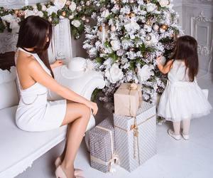 christmas, baby, and mom image