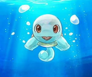 pokemon, squirtle, and water image