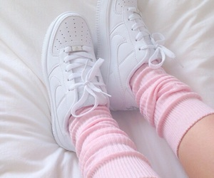 nike, pink and white, and shoes image