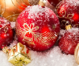 christmas, decorations, and snow image