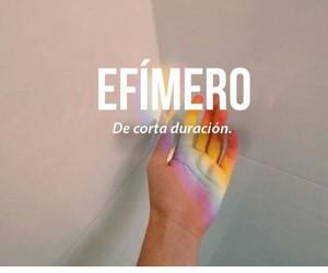 efímero, palabra, and definicion image
