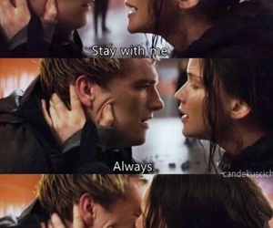 quotes, peeta, and katniss image