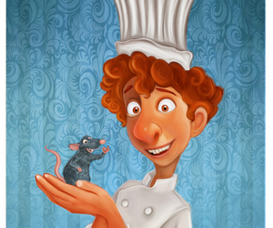 art, disney, and ratatouille image