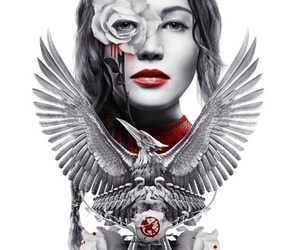 mockingjay, hunger games, and katniss image