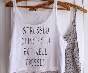 fashion, stressed, and depressed image