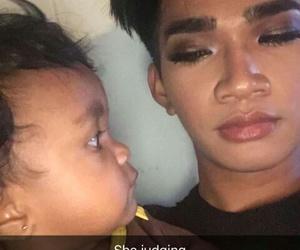 baby, judging, and snapchat image