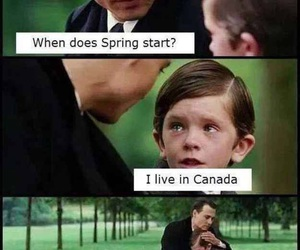 funny, spring, and canada image