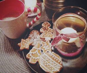 candle, christmas, and coffee image