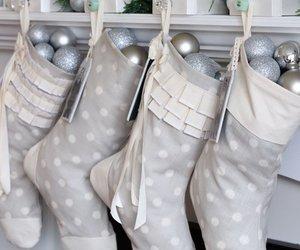 christmas, christmas decorations, and christmas stockings image