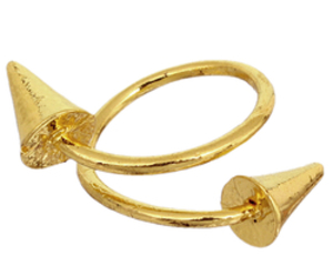bullet ring and cone ring image