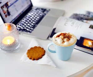 candle, laptop, and Cookies image
