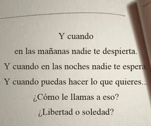 frases, libertad, and soledad image