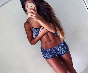 fitness, outfit, and abs image