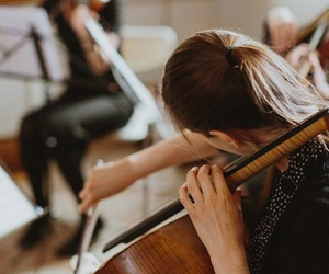 music, cello, and vintage image