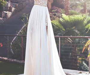 dress, white, and Prom image