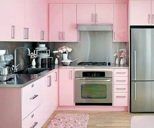 pink, kitchen, and home image