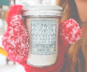 winter snow and candle image