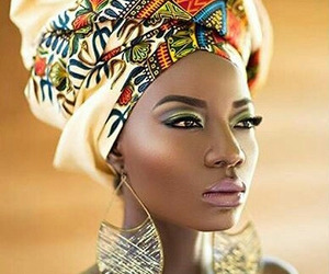 African woman, black woman, and head scarf image