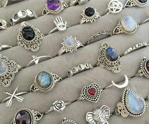 accessories, rings, and witch image