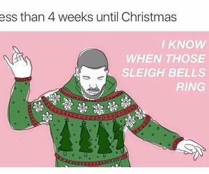 christmas, Drake, and funny image