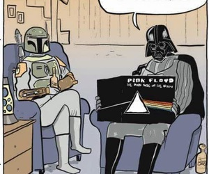 Pink Floyd, star wars, and darth vader image