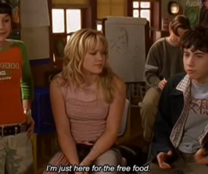food, lizzie mcguire, and Hilary Duff image