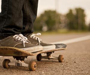 skate, vans, and skateboard image