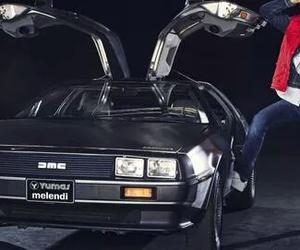 Back to the Future, car, and delorean image