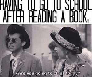 book, school, and reading image