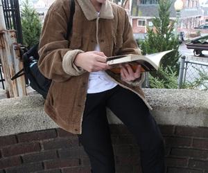 autumn, books, and boy image