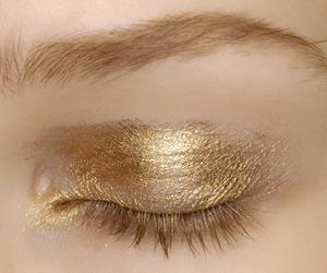 gold, makeup, and make up image