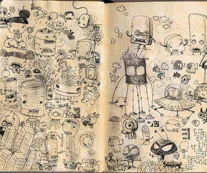 cartoon, characters, and sketchbook image