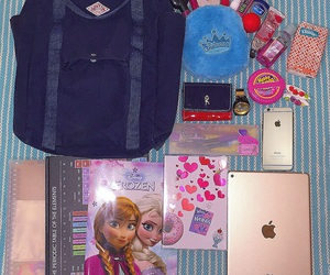 background, backpack, and blue image