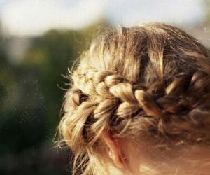 blonde, braids, and hair image