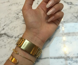 nails, gold, and luxury image