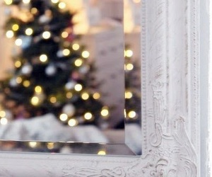 christmas, mirror, and winter image