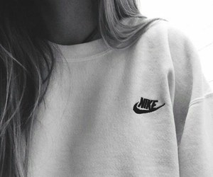 nike and black and white image