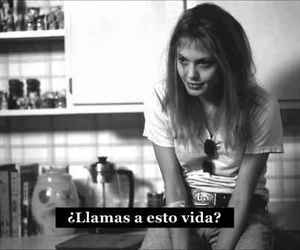 blanco, negro, and frases tristes image