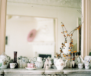 cup, vintage, and mirror image